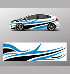 Car decal wrap design graphic abstract shapes vector