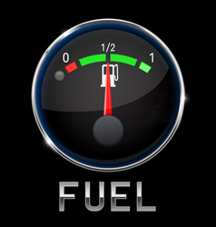 Car engine temperature black gauge normal with vector