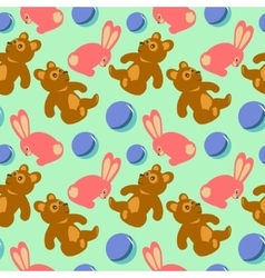 Children toys seamless retro pattern vector image