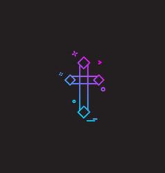 christian cross icon design vector image