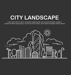 city landscape template vector image