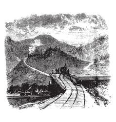 Coal train vintage vector