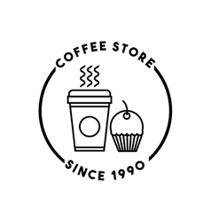 Coffee store restaurant menu vector
