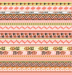 colorful ethnic triangle seamless pattern design vector image