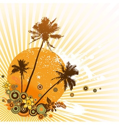 Colorful with palms vector