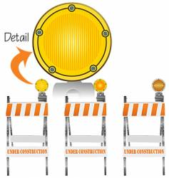 Construction markers vector