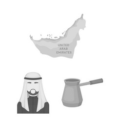 Country united arab emirates monochrome icons in vector