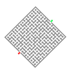 Cube maze vector