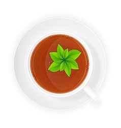 cup of tea 11 vector image