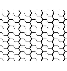 Design seamless monochrome hexagon pattern vector image