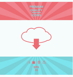 download from cloud vector image