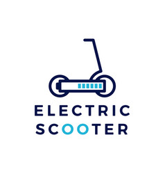 electric scooter battery logo icon vector image