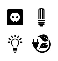 electricity simple related icons vector image