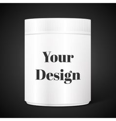 Empty white cylindrical box on isolated vector