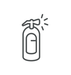 Extinguisher protection safety line icon vector