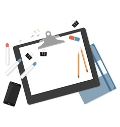 Flat mockups for website design vector image