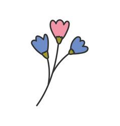 flowers stem nature decoration icon vector image