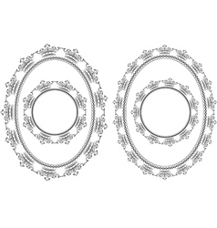 Frames round and oval vector