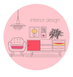 furniture logo vector image