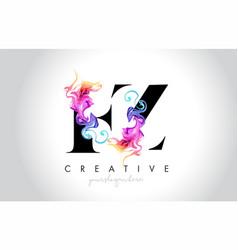 Fz vibrant creative leter logo design with vector