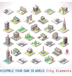 Game Set 01 Building Isometric vector image