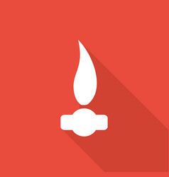 gas flame icon with a long shadow vector image