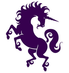 graceful silhouette of a unicorn vector image