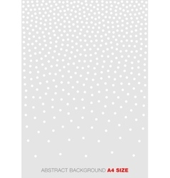 Gradient White Dots on Gray Background A4 size vector image
