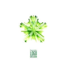 Green futuristic Star vector