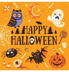 Happy Halloween card vector