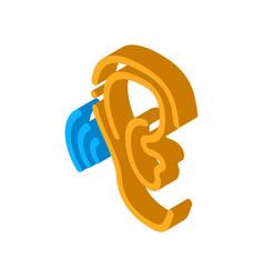 Hears sound isometric icon vector
