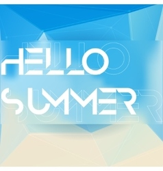 hello summer triangle geometric technology vector image
