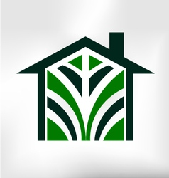 House Icon Modern Logo vector image