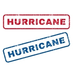 Hurricane rubber stamps vector