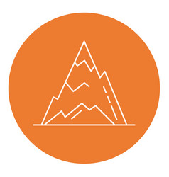 ice mountain peak icon in thin line style vector image