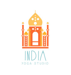 india yoga studio logo symbol health and beauty vector image