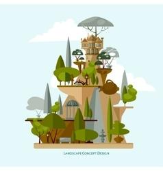 landscape design flat vector image