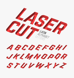 Laser cutted alphabet vector