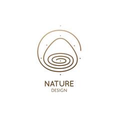 Mountain lake minimal logo abstract icon vector