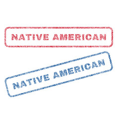 Native american textile stamps vector