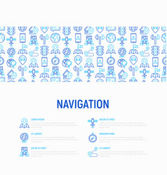 Navigation and direction concept vector