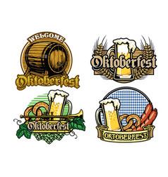 Oktoberfest badge design collection in full vector