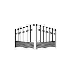 open gate logo vector image