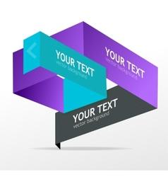 Origami speech templates for text vector