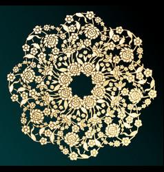 ornamental gold flower vector image