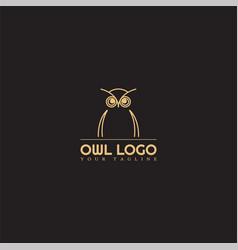 Owl logo template modern logo for business vector