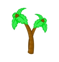 Palm tree with coconuts icon cartoon style vector image