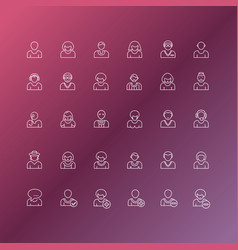 people avatars line icon vector image