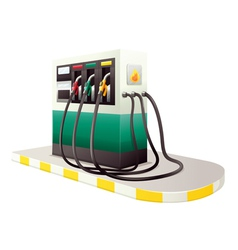 petrol dispenser unit vector image