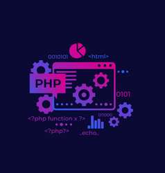 Php programming and coding vector